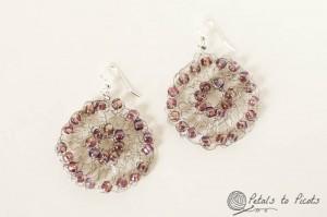 Crochet Wire Medallion Earrings