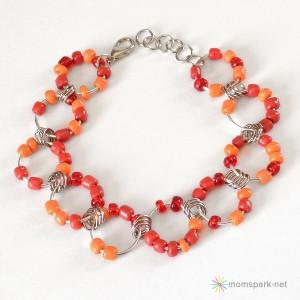 Beaded Jumbo Jump Chain Bracelet