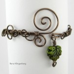 Leaf & Vine Filigree Wire Bracelet