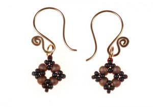 Drop Bead and Seed Bead Earrings