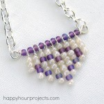 Fringe Heart Seed Bead Necklace