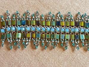 RAW bracelet with Tila Beads Fringe