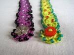 Sea Anemone Bead Crochet Bracelet