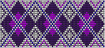 Purple Diamonds Bead Loom Pattern