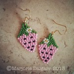 Strawberry Brick Stitch Earrings