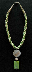 Leather Kumihimo necklace