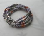Multi-Strand Peanut Bead Bracelet