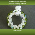 Crystal Beaded Wreath Pendant