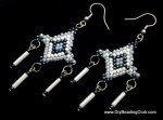 DIY Brickstitch Christmas Parol Earring Pattern