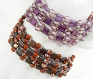 Stringing Tila Beads