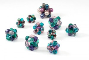 Candy Cubes Beaded Bead