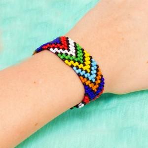 African DIY Bead Loom Bracelet
