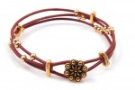 DIY -3 Strand Leather Bracelet