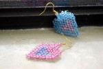 Making Heart-in-heart Brick Stitch Earrings