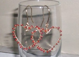 Quick and Easy Heart Earrings