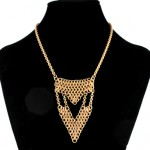 Geometric Chainmaille Bib Necklace