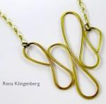 Dangerous Curves Wire Necklace