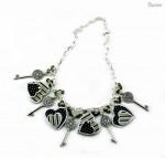 Mixed Media Key to my Heart Necklace