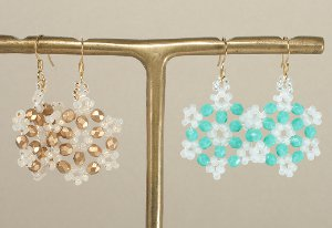 Snow and Snowflake Earring Patterns