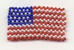 Seed Bead Flag Pin
