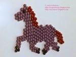 Horse in Brick Stitch