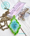 Ice Resin and Crochet Pendant