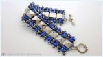 Herringbone Bracelet with Pyramids and SuperDuos