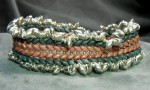 Double Herringbone Bracelet with Superduo Beads