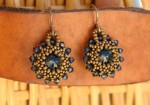 Beaded Rivoli Earring Tutorial