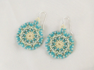 Seed Bead Weave Earring Tutorial
