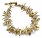 Kumihimo Bracelet with Spiked Glass Beads