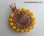 Beaded Spiral Pendant Tutorial