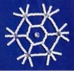 Bead Embroidery Snowflake