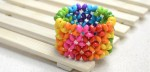 Rainbow Colored Right Angle Weave Bracelet