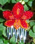 Bead Embroidered Hair Combs
