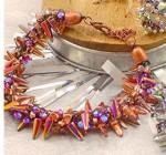 Kumihimo Punk Jewellery with Glass Spike Beads