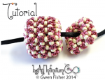 Puff Beads -- a beaded bead torus with Embellished Super Right Angle Weave