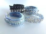 Crochet and Chain Mixed Media Bracelet