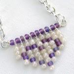 Fringe Heart Seed Bead Necklace