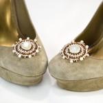 Beaded Moonstone Shoe Clips Tutorial