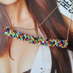 DIY Seed Bead Tube Necklace