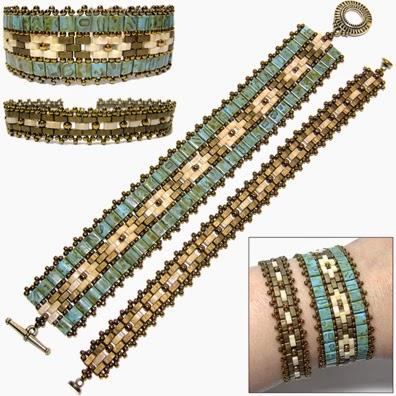 Mosaic Bands Tila Bead Pattern