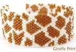 Giraffe Brick Stitch Bracelet