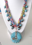Turquoise Dreams Mixed Media Necklace Tutorial