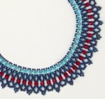 Beaded Crystal Net Necklace
