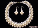 Netted Pearl Necklaces
