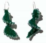 Bead Crochet Helix Earrings