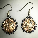 Bead Weaving Bud Earrings