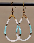 Beaded Earrings: Teardrop Tutorial
