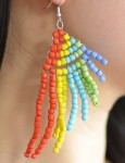 Seed Bead Fairy Wing Earrings